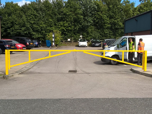 Double Leaf Swing Gate - Security Bollards West Yorkshire